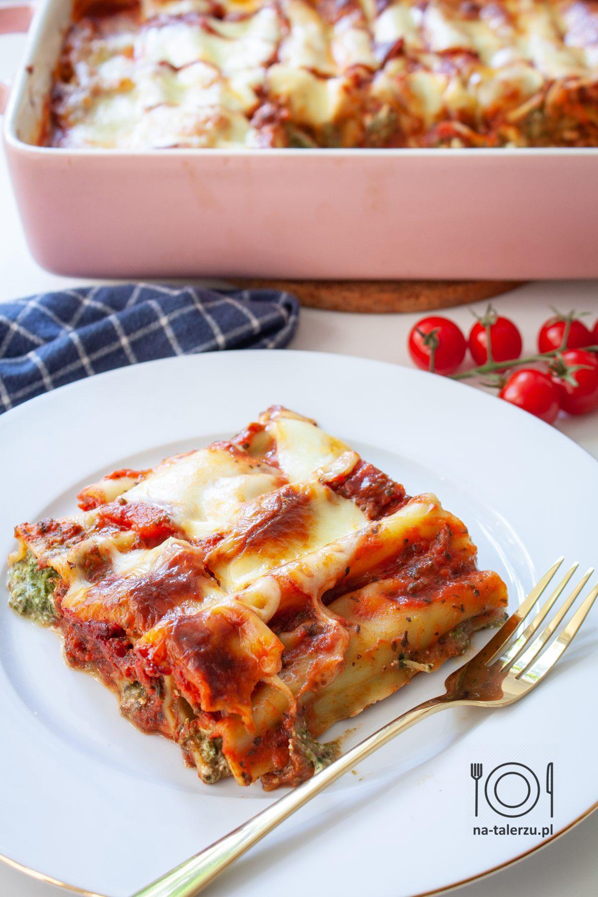 Cannelloni ze szpinakiem i ricottą